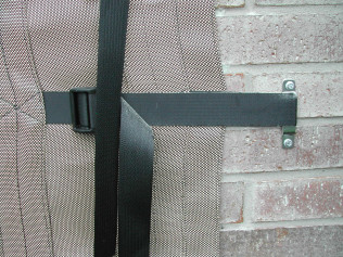 Close up of the Strap & Buckle mount.